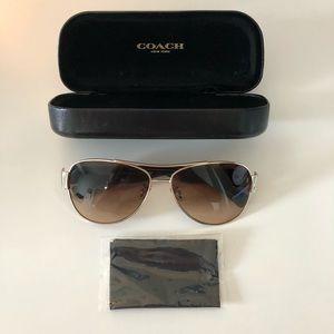 Coach brown aviator sunglasses